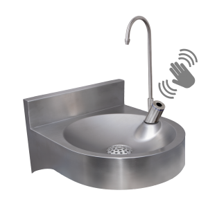 FONT10CL Wall Mounted Fountain with Contact-Less Swan Neck Tap